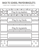 Prayer Bracelet Coloring Page
