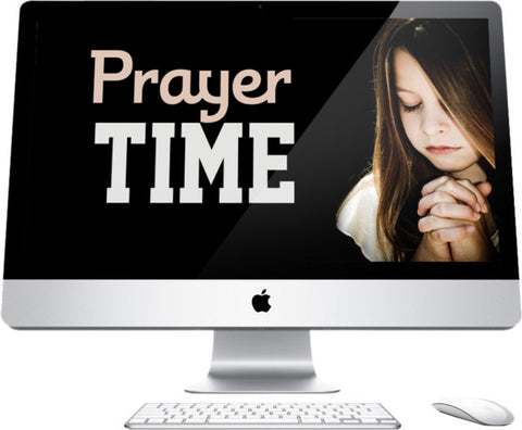 Prayer Time Children's Church Graphic