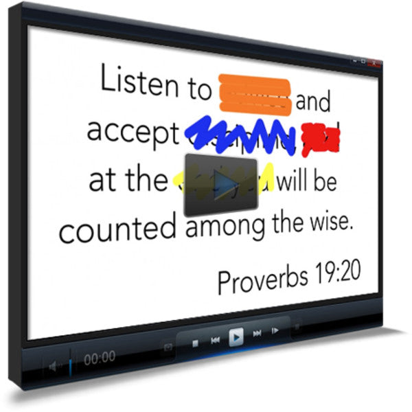 Proverbs 19:20 Memory Verse Video