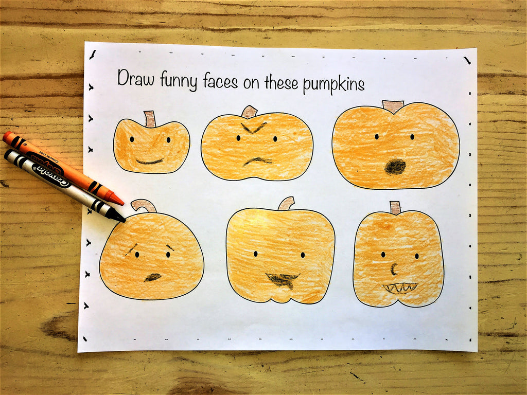 FREE Pumpkins Coloring Page