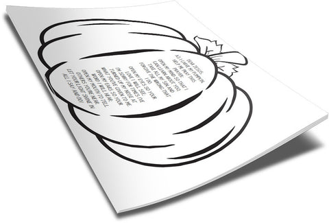 photo regarding Pumpkin Prayer Printable called Pumpkin Prayer Coloring Site