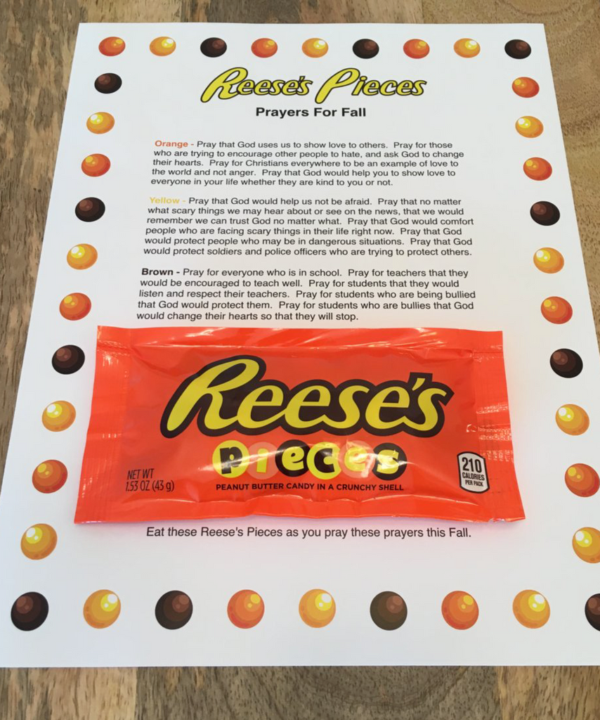Reeses Pieces Prayer For Fall Childrens Ministry Deals