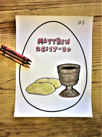 12 FREE Resurrection Eggs Coloring Pages Children 39 s