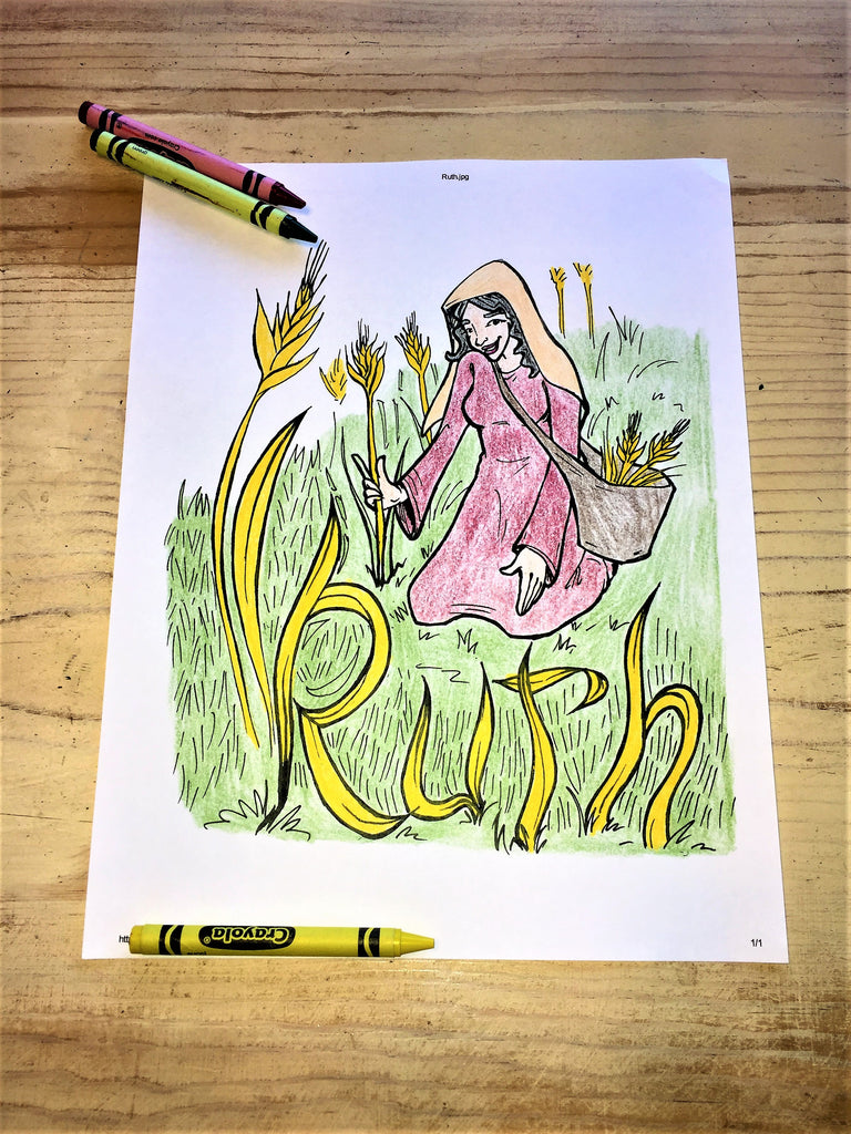 Ruth Coloring Page – Children\'s Ministry Deals