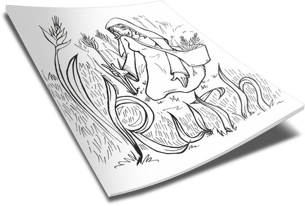 Nw Ruth Bible Coloring Pages coloring page & book for kids. | 406x600