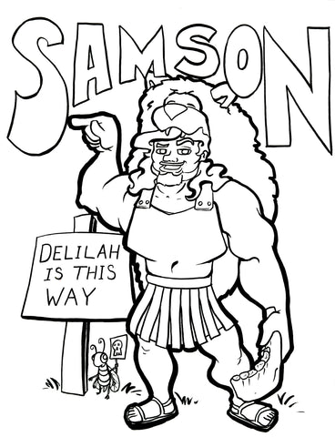 Samson Coloring Page Childrens Ministry Deals