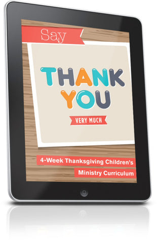 FREE Say Thank You Children's Ministry Lesson