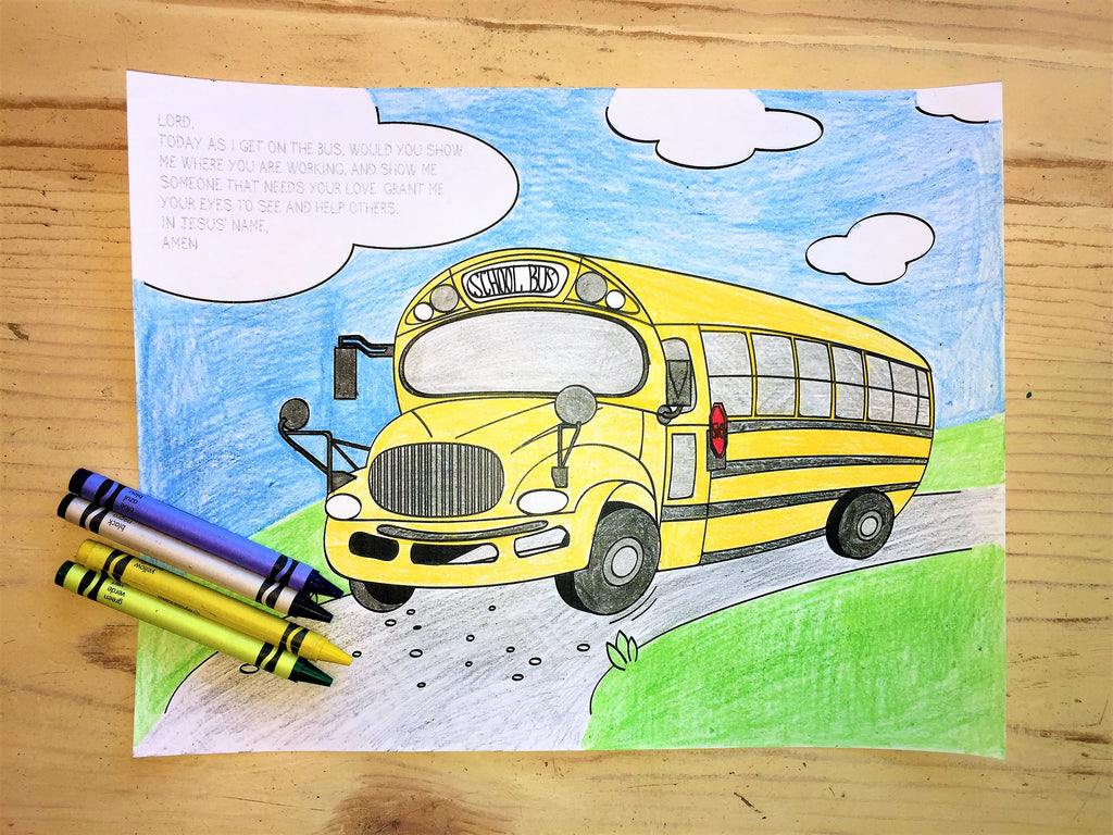 FREE Back to School Coloring Page-Bus