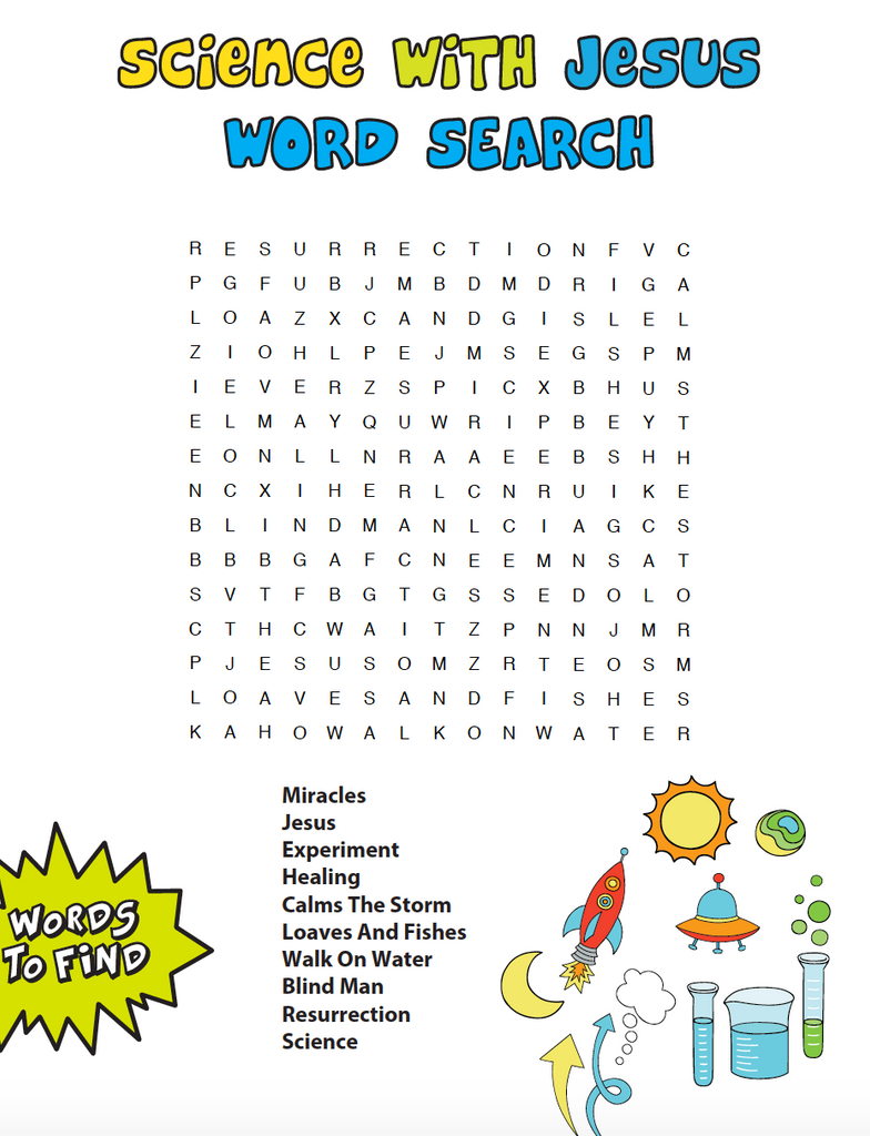 Science With Jesus Word Search