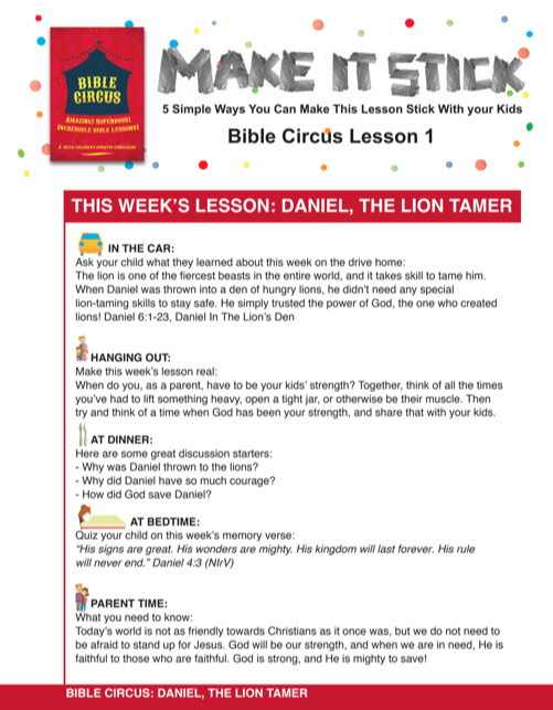 Bible Circus 8-Week Children's Ministry Curriculum