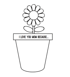 graphic regarding Printable Mother's Day Cards called Moms Working day Playing cards for Young children - Flower Pot