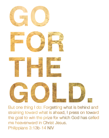 Go For the Gold Bible Printable Artwork