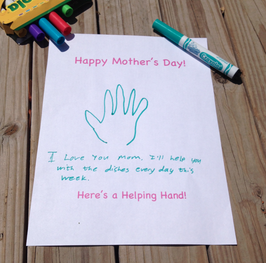 Mother's Day Printable - Helping Hand