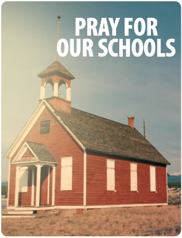 Pray For Our Schools Poster