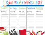 FREE Back to School Prayer Calendar