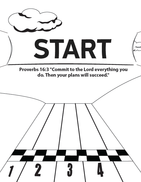 Starting Line Coloring Page