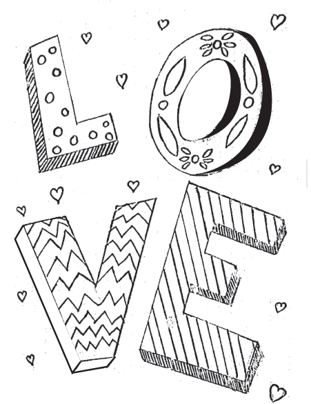 "FREE ""Love"" Coloring Page"