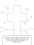 FREE Valentine's Coloring Page - Cross