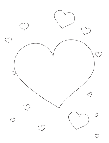 Valentine's Hearts Coloring Page