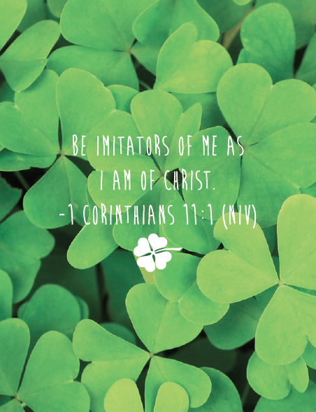 Shamrock Printable Bible Artwork