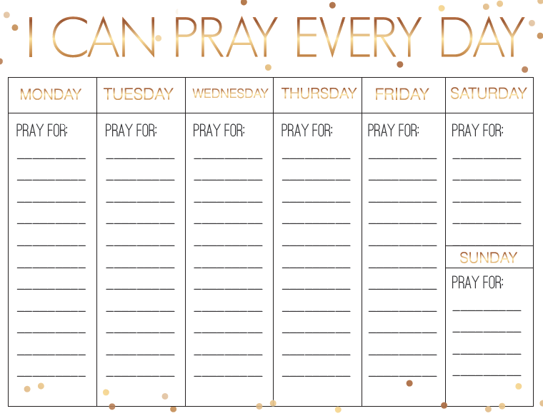 picture regarding Printable Monthly Prayer Calendar named Fresh Yrs Weekly Prayer Calendar