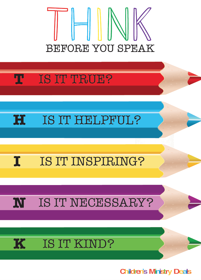 FREE Think Before You Speak Poster