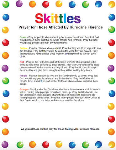Skittles Prayer for Hurricane Florence