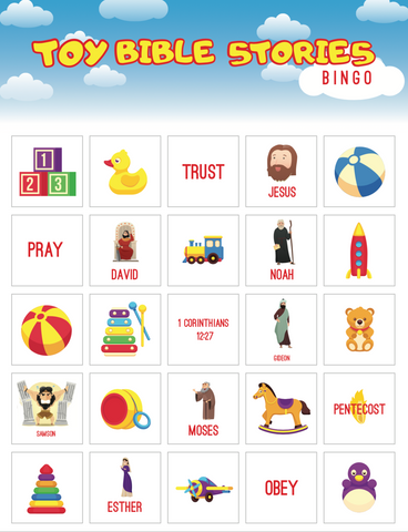 Toy Bible Stories Bingo