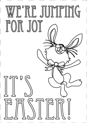 FREE Easter Coloring Cards