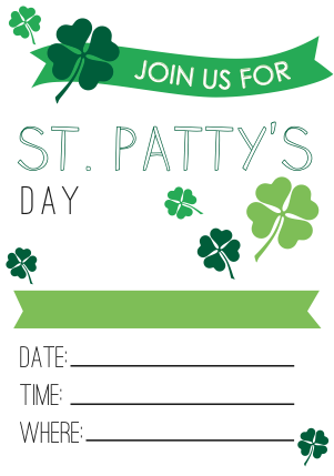 FREE Printable St Patty's Day Cards