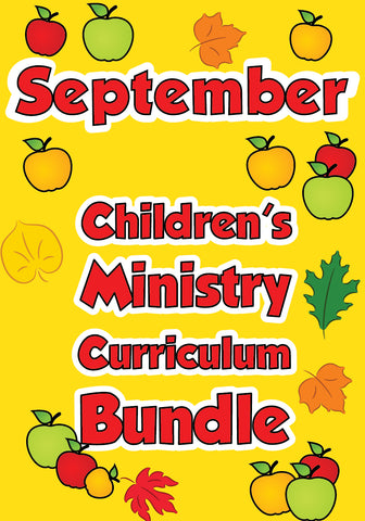 September Children's Ministry Curriculum Bundle