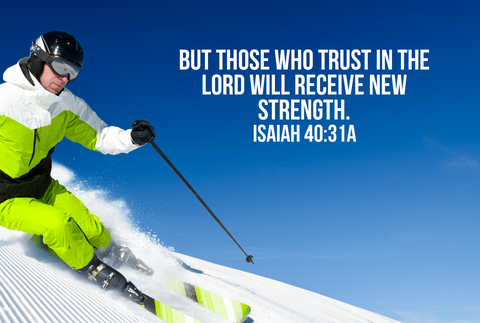Skiing Bible Verse Poster