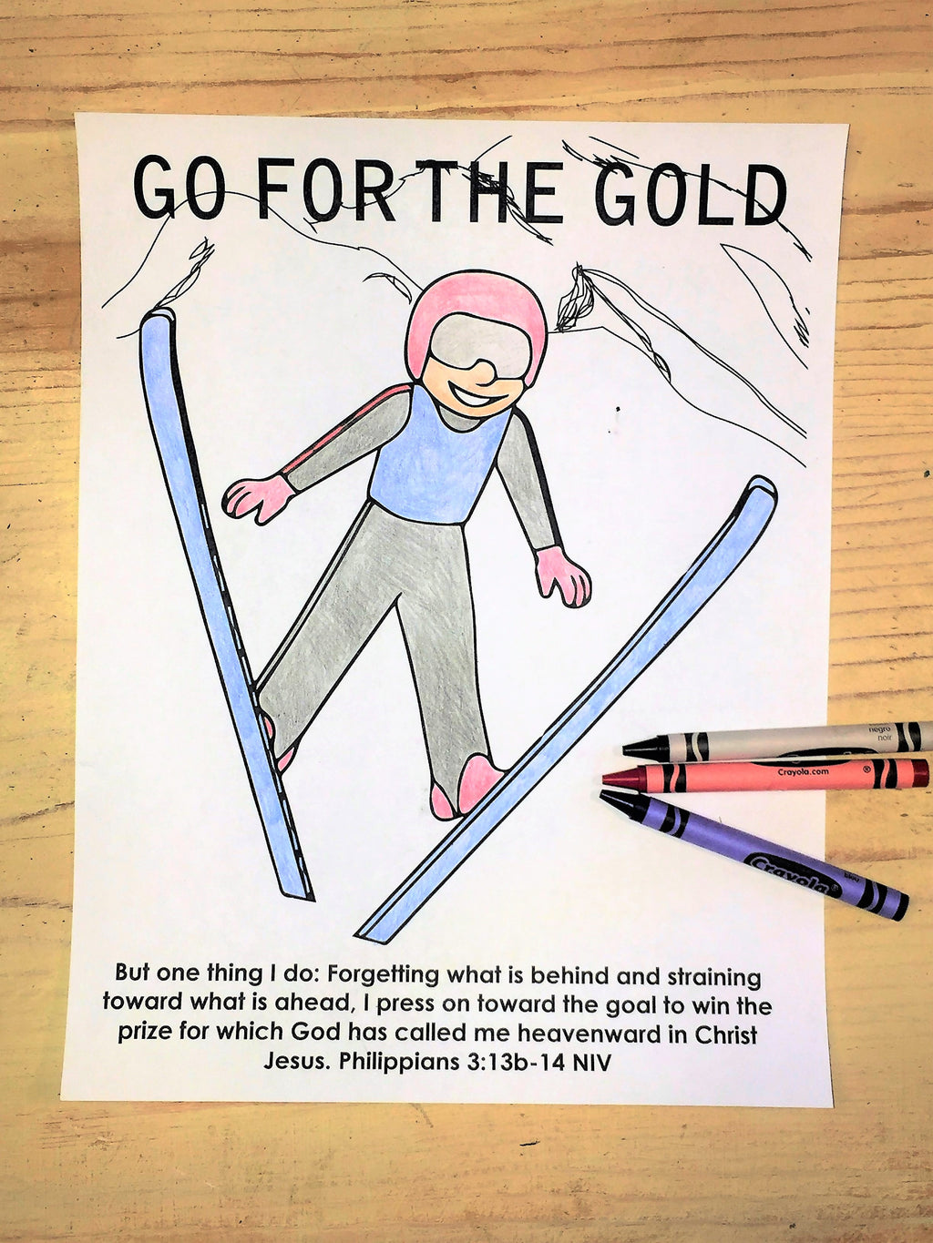 9 Free Winter Olympics Coloring Pages For Kids