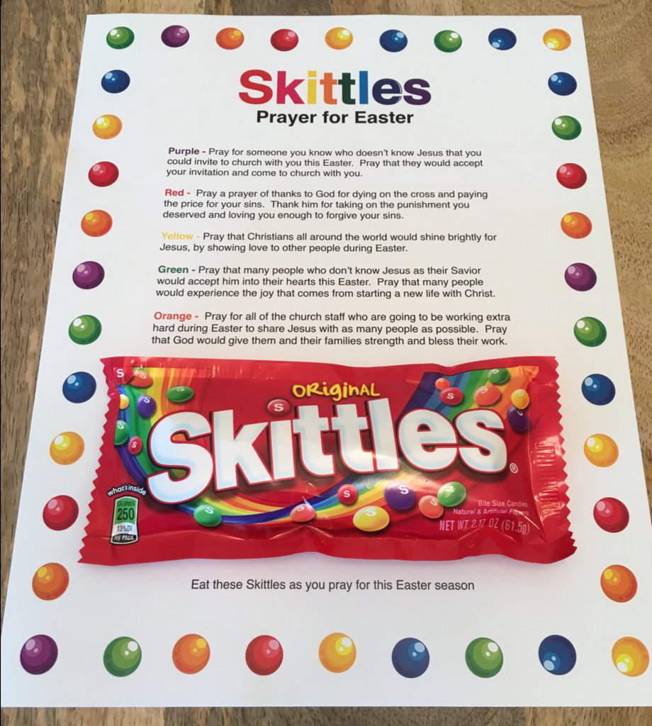 Skittles Easter Prayer