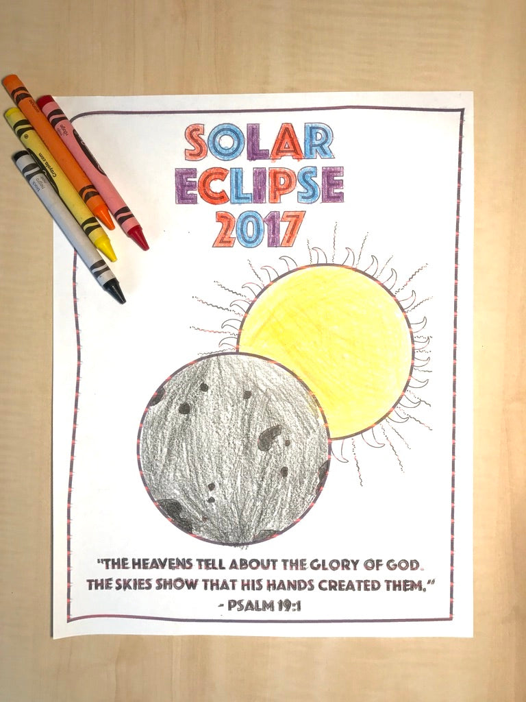 FREE Solar Eclipse Coloring Page