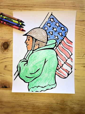 FREE Soldier Coloring Page