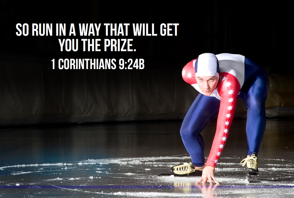Speed Skater Bible Verse Poster