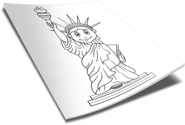 liberty kids coloring pages - statue of liberty coloring page children 39 s ministry deals