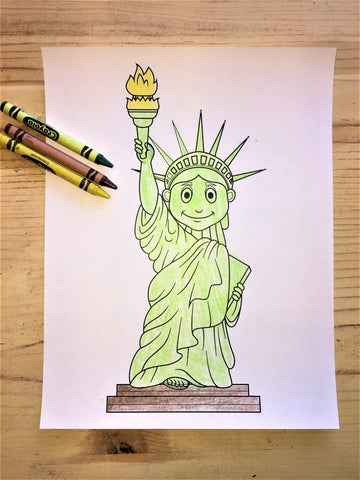 FREE Statue of Liberty Coloring Page