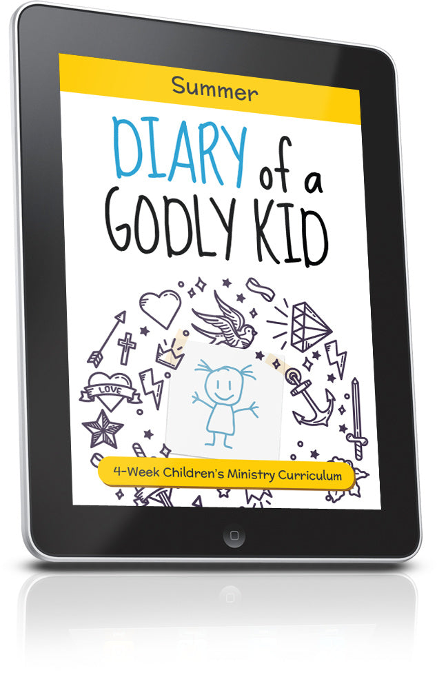 FREE Diary of a Godly Kid Summer Vacation Children's Ministry Lesson