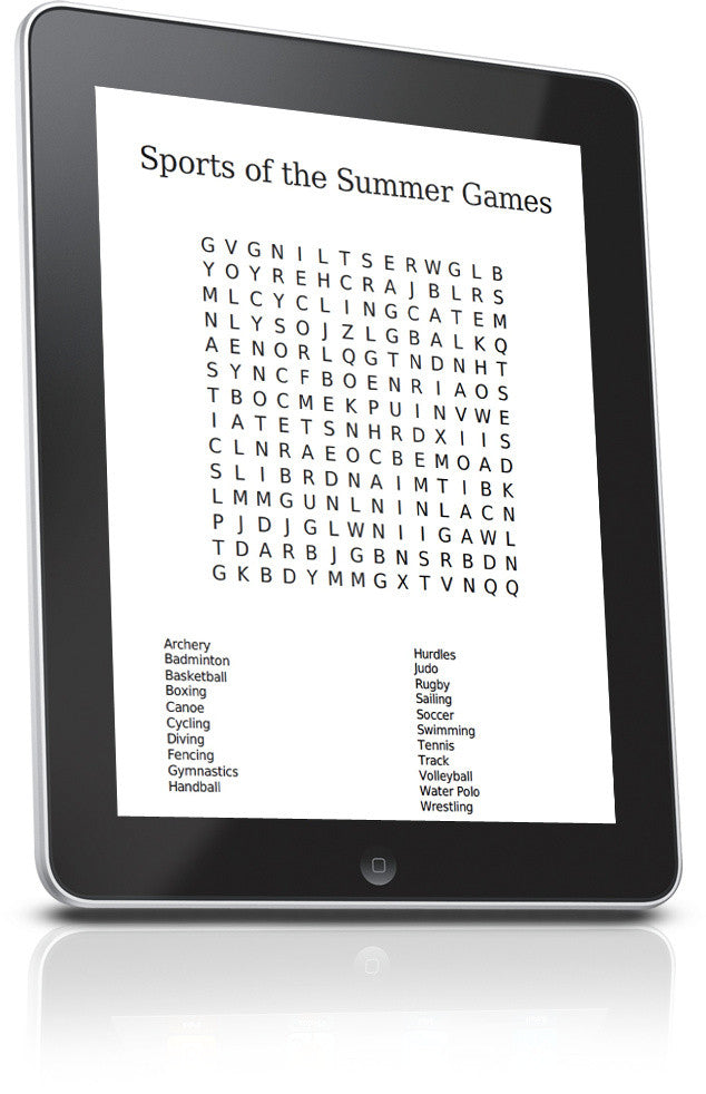 Summer Olympics Word Search