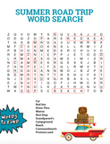 Summer Road Trip Word Search