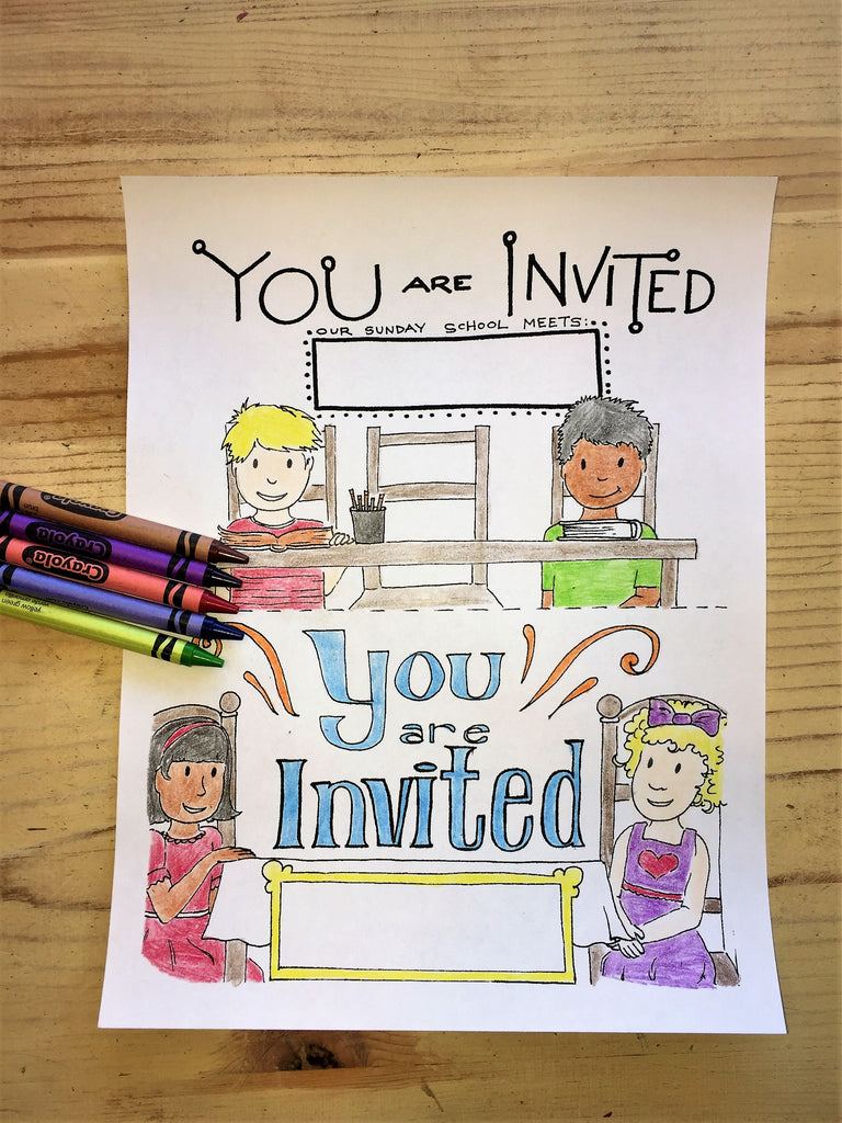 Sunday School Invite Coloring Pages