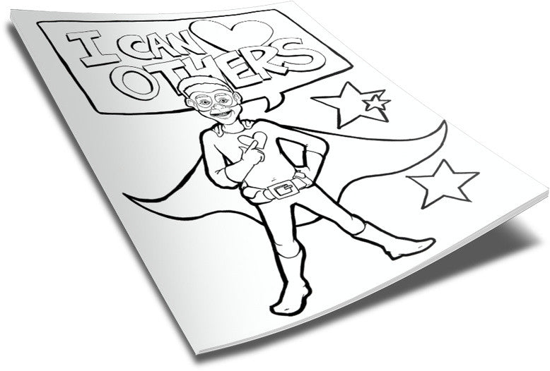 FREE Superhero Boy Coloring Page