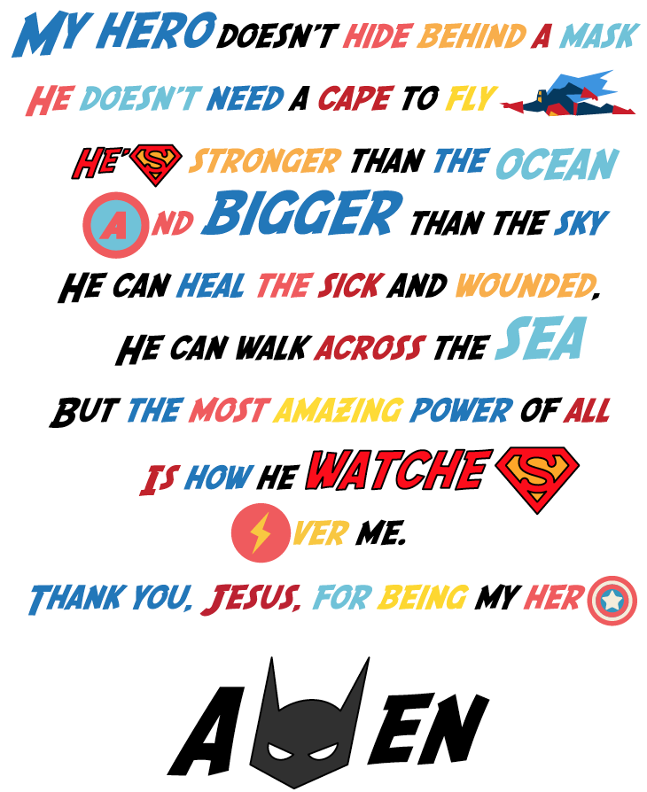 FREE Superhero Prayer