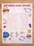 FREE Superhero Word Search
