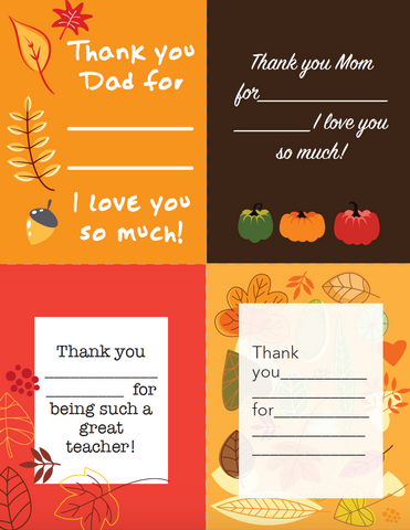 Thanksgiving Thank You Notes Children S Ministry Deals