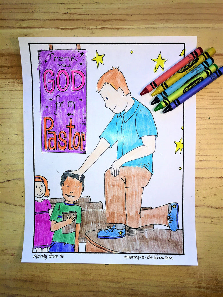 FREE Pastor Coloring Page