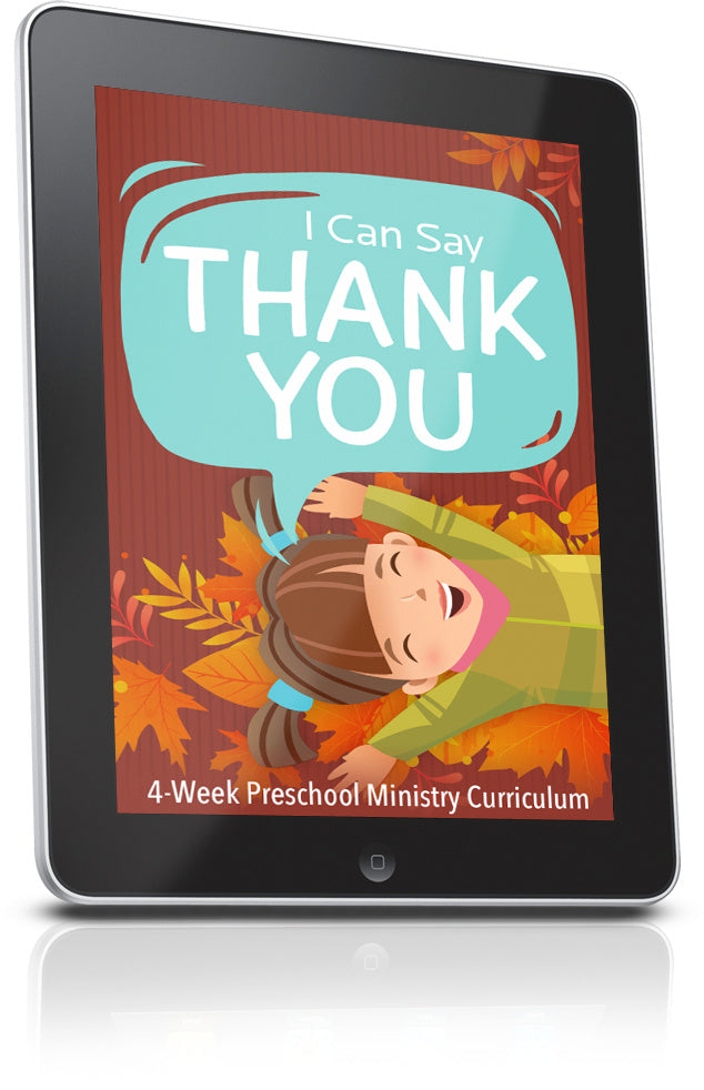 FREE Thank You Preschool Ministry Lesson