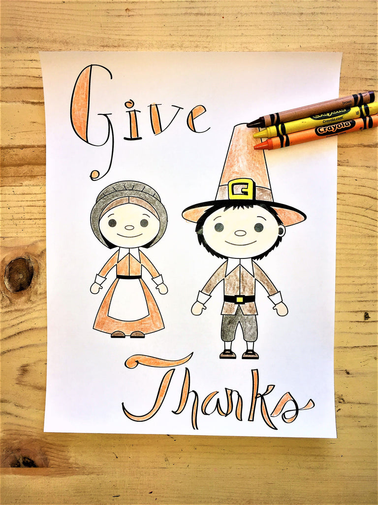Thanksgiving Pilgrim Coloring Page – Children\'s Ministry Deals